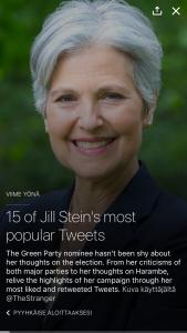 Kokoelma tietyn tweettaajan suosituimmista tweeteistä