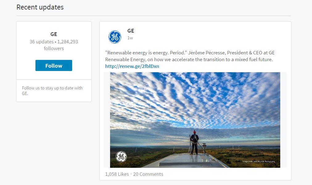 Uusi LinkedIn-yrityssivu on ilmavampi