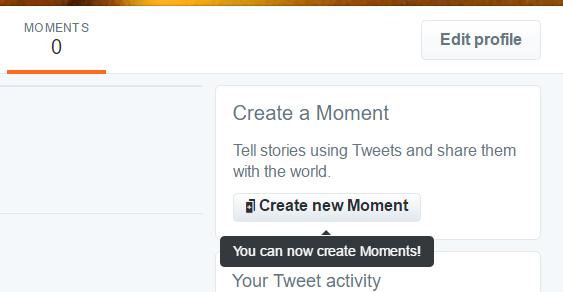 Luo uusi Twitter Hetki